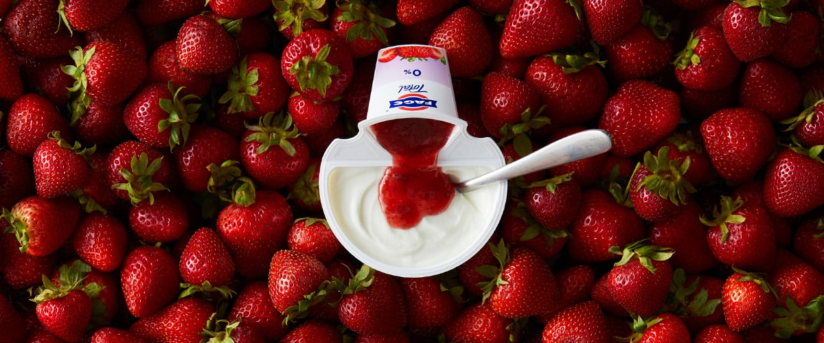 FAGE Total 0% Split Pot Yoghurt - Strawberry